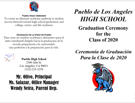 Pueblo de Los Angeles High School Graduation 2020